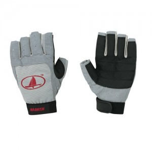 "Ръкавици ""Харкен"" 3/4 пръсти, сиво"
