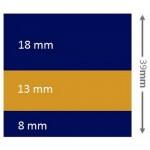 Декоративна лепенка за водолиния 39mm x 10m Синьо, Златно, Синьо