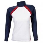 Тениска ликра мъжка бяло/тъмно синьо/червено