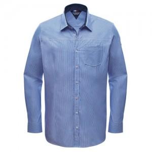 """Мъжка риза """"Albin"""" бяло/тъмно синьо райе"""