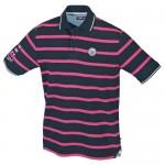 """Тениска мъжка """"Carl"""" тъмно синьо / розово"""