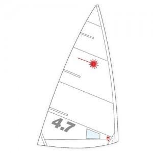 Ветрило LASER ® 4.7 сгънато